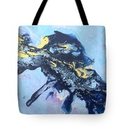 Blue Abstract #3 Tote Bag