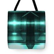 Blue Aluminum Surface. Metallic Fashion Geometric  Background Tote Bag