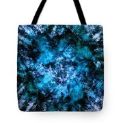 Blue Burst Tote Bag