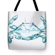 Blue Crab Turcoise Tote Bag