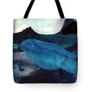 Blue Fish Tote Bag by Maria Langgle