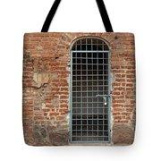 Blue Grid Doorway Tote Bag