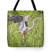 Blue Heron On The Rise Tote Bag