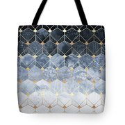 Blue Hexagons And Diamonds Tote Bag