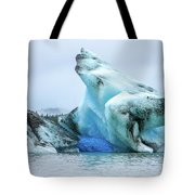 Blue Ice, Mendenhall Glacier Tote Bag by Dawn Richards