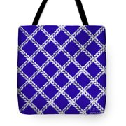 Blue Knit Tote Bag