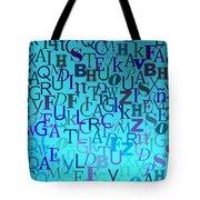 Blue Letters Over Blue Backlight Tote Bag