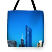 Blue Middle Tote Bag