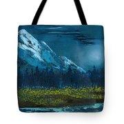 Blue Mountain Top Tote Bag