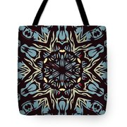 Blue Pattern Tote Bag