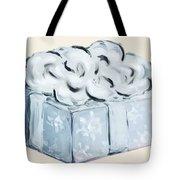 Blue Present Tote Bag