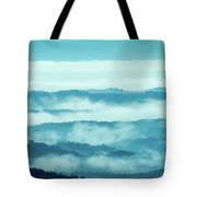 Blue Ridge Mountains Layers Upon Layers In Fog Tote Bag
