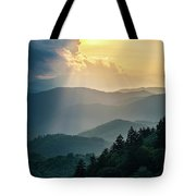Blue Ridge Parkway Nc From Above Tote Bag