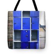 Blue School Lockers Tote Bag