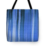 Blue Shower Curtain Tote Bag