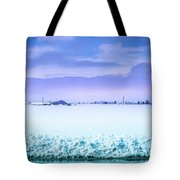 Blue Sky, White Field Tote Bag