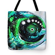 Blue Spewed Turtle Fish Tote Bag