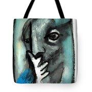Blue Thinker Tote Bag