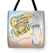 Blue Vase Tote Bag