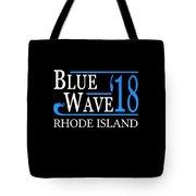 Blue Wave Rhode Island Vote Democrat 2018 Tote Bag