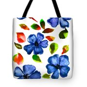 Tote Beach Weekender Watercolor Abstract Wild Flowers and Grasses 2 Gift Idea