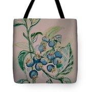 Blueberries At Lake Pickerel Tote Bag