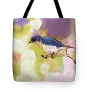Bluebird Watercolor Version 2 Tote Bag by Dan Sproul