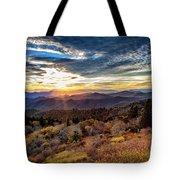 Blueridge Mountain Sunburst Tote Bag