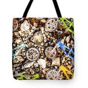 Bmx Pebble Race Tote Bag