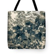 Bnw Leaves  Tote Bag by Keith Smith
