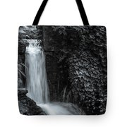 Bnw Waterfall And Flora Tote Bag by Keith Smith