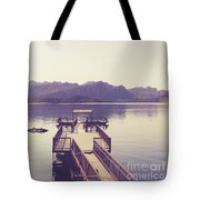 Boat Dock Tonto National Forest Tote Bag