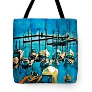 Boats In The Harbor Tote Bag by Jeff Breiman