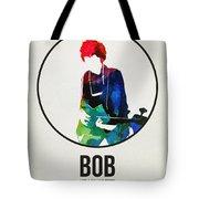 Bob Dylan Watercolor Tote Bag