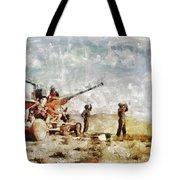 Bofors, Desert War, Wwii Tote Bag