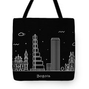 Bogota Skyline Travel Poster Tote Bag