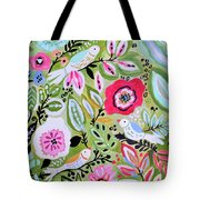 Bohemian Bird Garden Tote Bag