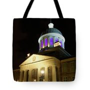 Bonsecours Market At Night In Old Montreal Tote Bag