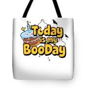Boo Day Halloween Happy Birthday Cake Ghost Light Tote Bag