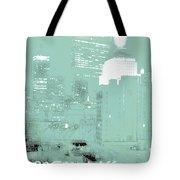 Boston Massachusetts Night Scene Digital Art Tote Bag