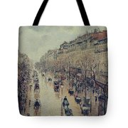 Boulevard Montmartre - Afternoon, In The Rain, 1897 Tote Bag