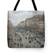 Boulevard Montmartre - Afternoon, Sunlight, 1897 Tote Bag