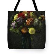 Bouquet Of Dahlias Tote Bag