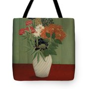 Bouquet Of Flowers With China Asters And Tokyos, 1910 Tote Bag