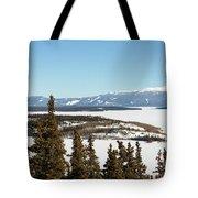 Bove Island On Windy Arm In Tagish Lake Yukon Tote Bag