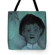 Boy With A Bird Tote Bag