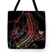 Brasilia Brazil City Street Map Watercolor Dark Mode Tote Bag