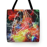 Brasilia Brazil Watercolor City Street Map Tote Bag