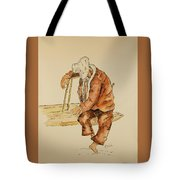 Brazil Watercolor Man On Bench Tote Bag