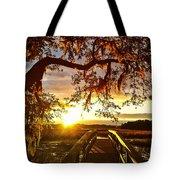 Breaking Sunset Tote Bag
